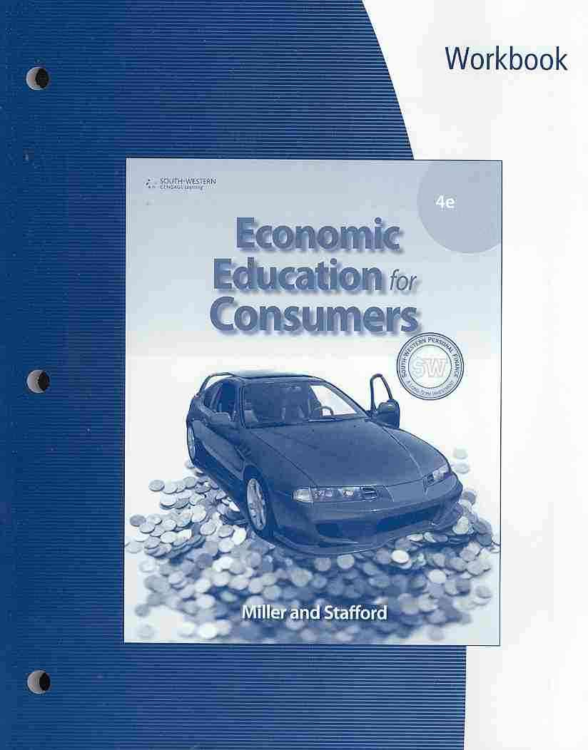 Economic Education for Consumers By Miller, Roger LeRoy/ Stafford, Alan D.
